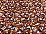 Disney-Gewebe, Baumwollgewebe, MICKEY MOUSE DINAMIC-Gewebe,