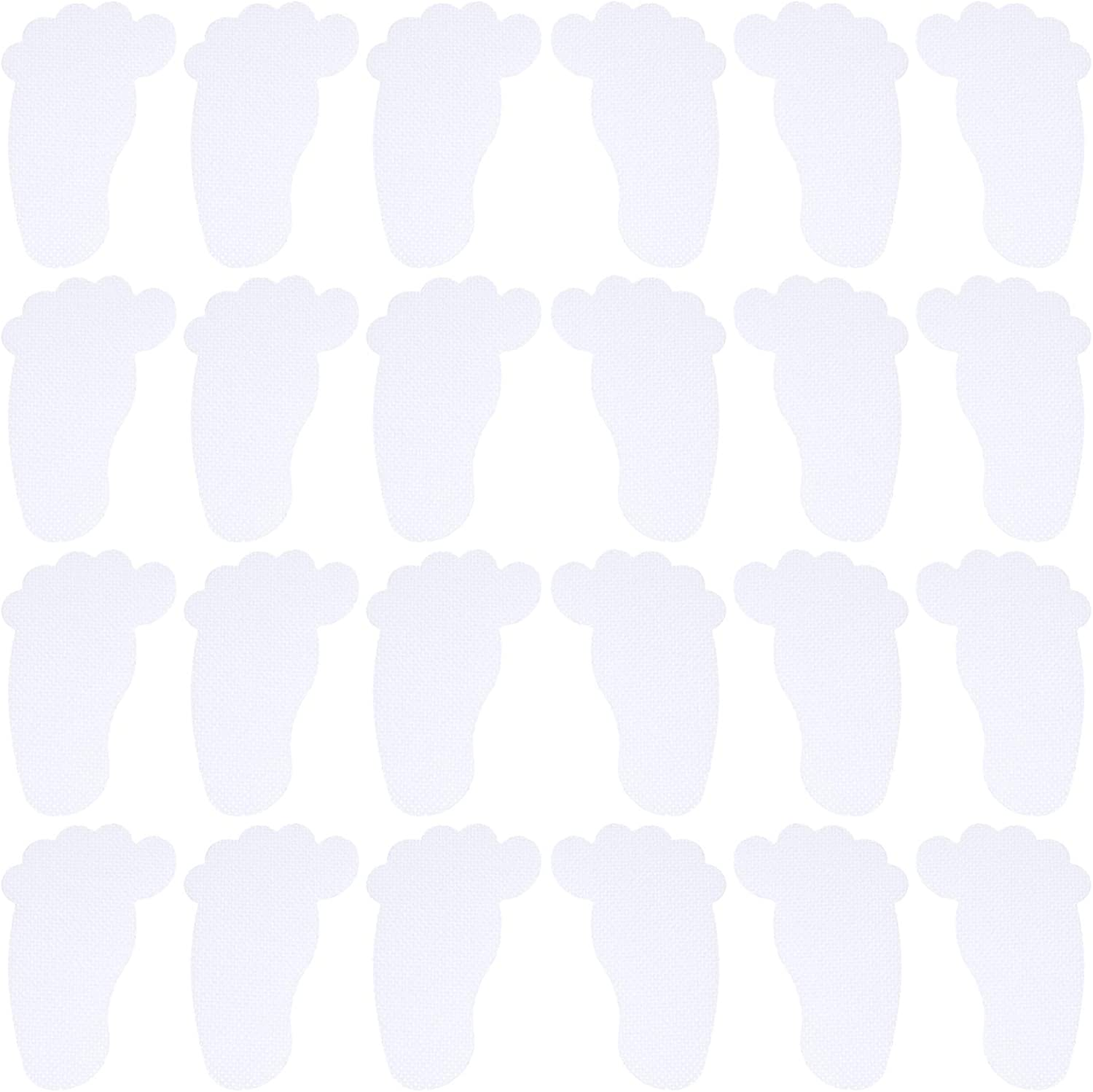 DOITOOL 24pcs Non- Cheap super special price Slip outlet Bathtub Stickers Clear Safety Footprint