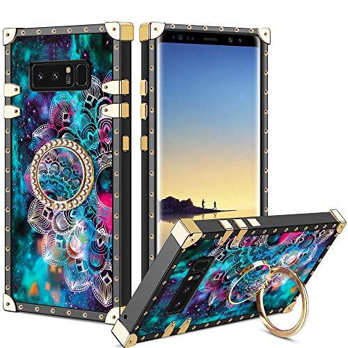 Vunake Samsung Galaxy Note 8 Hülle,Glitzer Case Cover 360 Grad Ring Stand Handyhülle Schutzhülle Fingergriff Kompatibel mit Magnetische Autohalterung für Samsung Galaxy Note 8