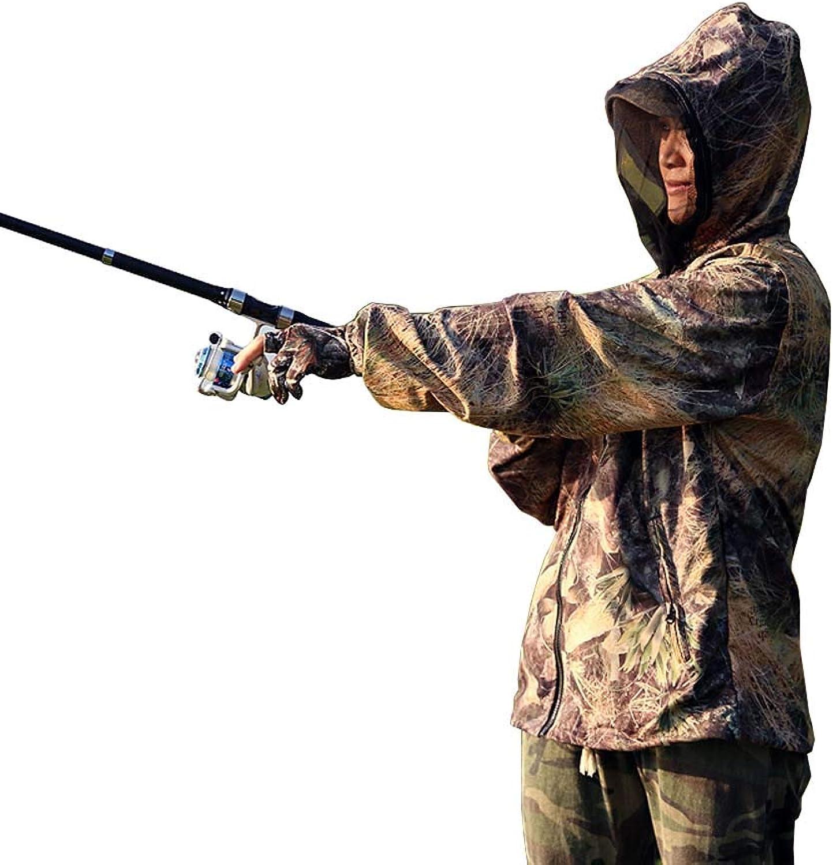 Anti-Moskito-Anzug, Camouflage Outdoor Bionic Moskitonetz Jacke Atmungsaktiv Abnehmbarer Schleier