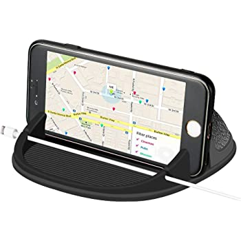 Cell Phone Holder for Car Dashboard, Universal Car Phone Mount Pad & Mat, Compatible with iPhone 11 Pro/Xs Max/XS/XR/X/8 Plus, Samsung Galaxy Note 10/9/8/S10 Plus/S9/ S8+, Google Pixel 3/2 XL and More