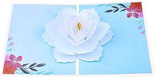 BC Worldwide Ltd carta pop-up 3D fatta a mano gardenia fiore, compleanno, anniversario di matrimonio, grazie, festa della ...