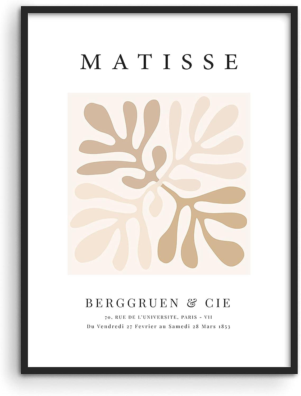 Haus and Hues Henri Matisse Wall Art Exhibition Poster - Matisse Paper Cutouts and Abstract Wall Art | Matisse Prints and Posters Aesthetic Modern Poster and Abstract Art Wall Decor UNFRAMED 12