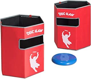 GOPLUS Folding Disc Slam Game Set, Portable Flying Disc Toss Dunk Game Set w/ 2 Targets 1 Flying Disc, Perfect for Tailgating, Family Parties, BBQs