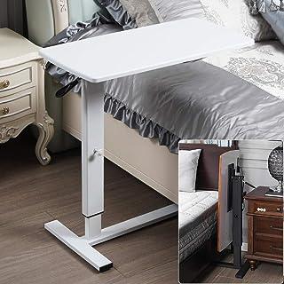 ホワイトカーボンスチール 折り畳みテーブル 昇降式テーブル リフティングテーブル 白いパネル 付き,ダイニングテーブル 無段階 ガス圧無段階昇降式リフティングテーブル 高さ調節可能、ロック可能なキャスター、折りたたみ式