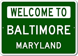 welcome to maryland state sign
