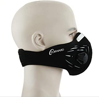 CFORWARD Dustproof Mask Activated Carbon Filtration Exhaust Gas Anti Pollen Allergy PM2.5 Face Mask for Running Cycling and Other Outdoor Activities
