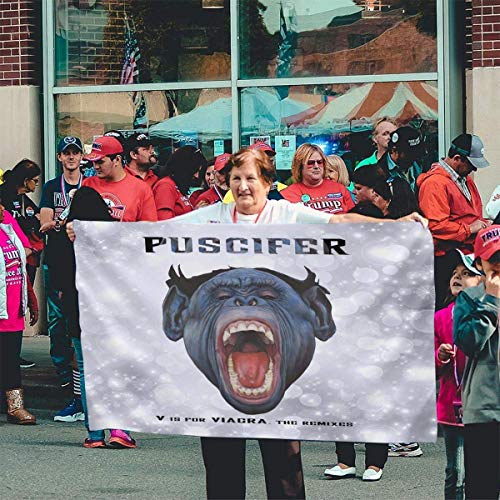 Viplili Banderas Puscifer V is for Viagra Music Band Theme Flag,Fashion Flag,Bandera del jardín