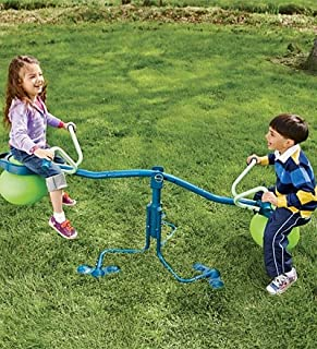 TP Activity Spiro Hop Bouncer Teeter Totter - Teeter Totter Playset That Spins 360° - Holds up to 75 lbs per Seat