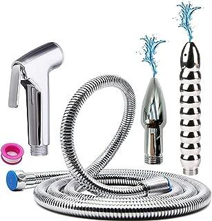 GNEGKLEAN Bathroom Handheld 2M Shower Hose Enema Douche Bidet Cleaning System Kit