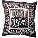 Primitives by Kathy Chalk Art Pillow, 10-Inch Square, Decorative Pillow