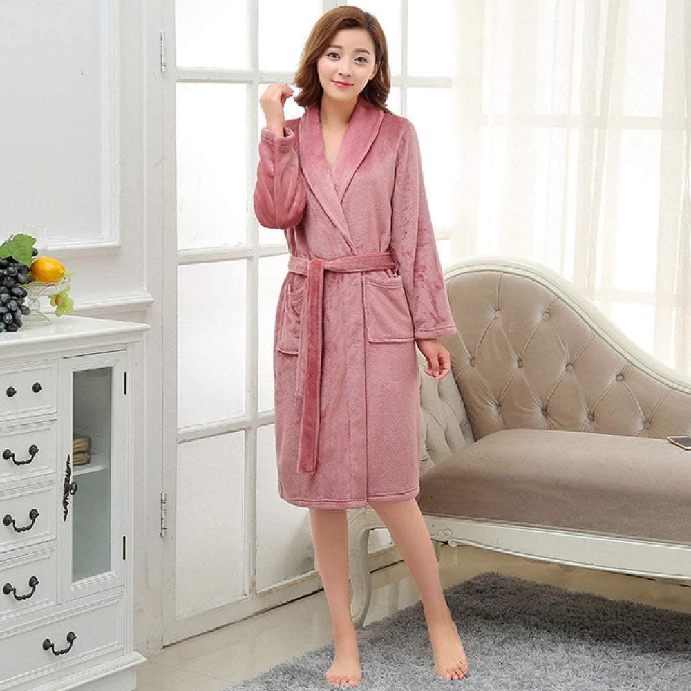 SDCVRE Winter Bathrobe Lovers Max 63% OFF Luxury Silk Ba Long Popular products Flannel