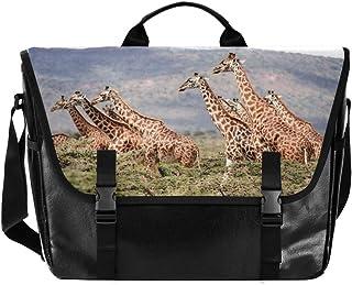 Africa Animals Jirafas, bolsa de lona, unisex, 15.279 pulgadas, bolsa de hombro, bolso de mano