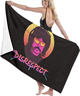 FlypoYocDirect Violence Speed Momentum Gaming Dr. Disrespect Luxury Hotel and Spa Bath Towels, Sand
