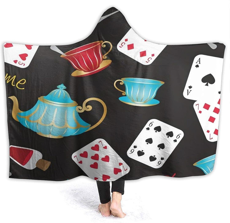 in Wonderland Mad Tea Party Hooded Se price Blanket Cute Throw Super intense SALE