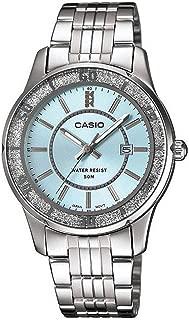 Casio Women's Blue Dial Stainless Steel Band Watch - LTP-1358D-2