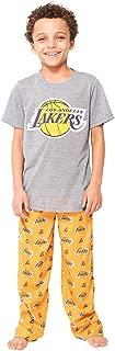 Boy's 2 Piece Soft Tee Shirt & Lounge Pants Sleepwear Loungewear Pajama Set