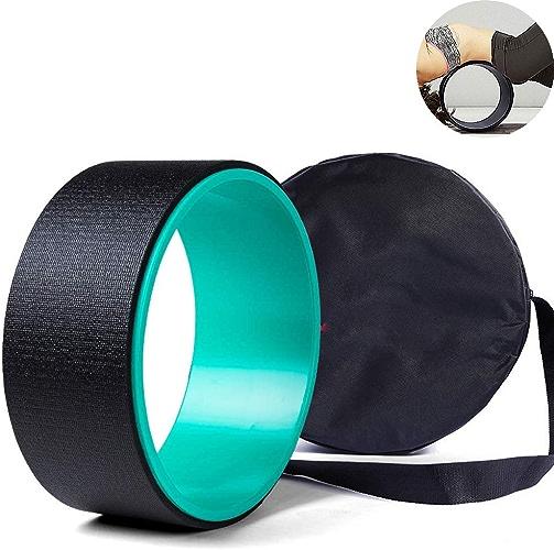 CWDXD Pilates Ring Roue de Yoga 32cm x 13cm La Roue de Yoga Dharma Premium la Plus puissante pour des Poses de Yoga, idéale pour étirer, Augmenter la flexibilité et améliorer Les Postures