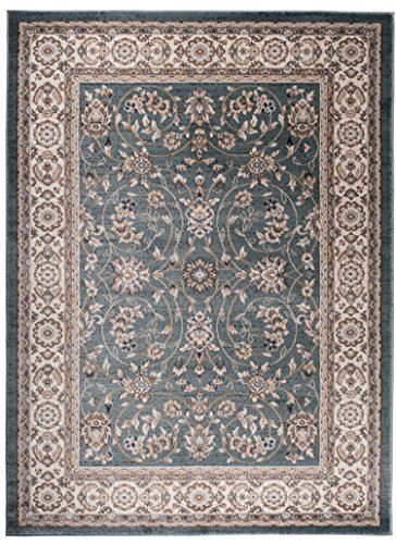 We Love Rugs - Carpeto Traditioneller Klassischer Teppich für Ihre Wohnzimmer - Türkis Creme Beige - Perser Orientalisches Antik Ziegler Ornamente Top Qualität Pflegeleicht AYLA 250 x 350 cm Groß