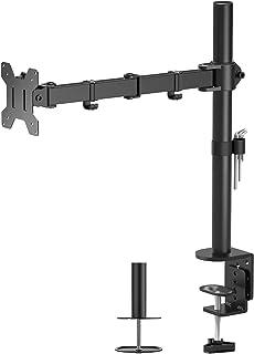 BONTEC Support Ecran PC Support Moniteur Ordinateur Ecran LCD LED de 13-32 Pouces, Seul Arm, Capacité de Charge 10 kg, Rég...