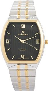 صن روك ساعة رسمية للرجال - انالوج بعقارب، ستانلس ستيل - SRG102