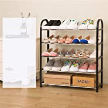 ELECTROPRIME Living Room Furniture Storage Shoe Cabinet Door Simple Creative Plastic Iron Multi-Layer Assembly Rack