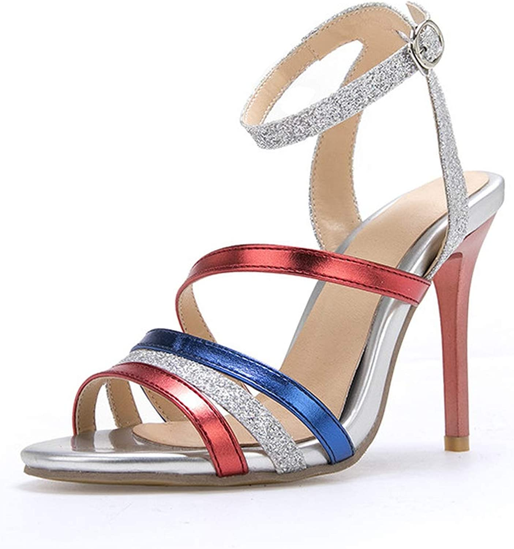 Summer Summer shoes Women Buckle Prom Wedding shoes Elegant Sandals Women high Heels shoes
