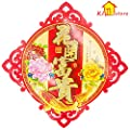 KI Store Chinese New Year Decoration 2018 Red 3D Lucky FU Character for Good Fortune Paper Cut Lunar New Year, Spring Festival Door Ornaments