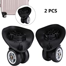 Dilwe 1 Pair Suitcase Wheels PVC Luggage Replacement Wheels for Travel Suitcase Accessory (W042 S)