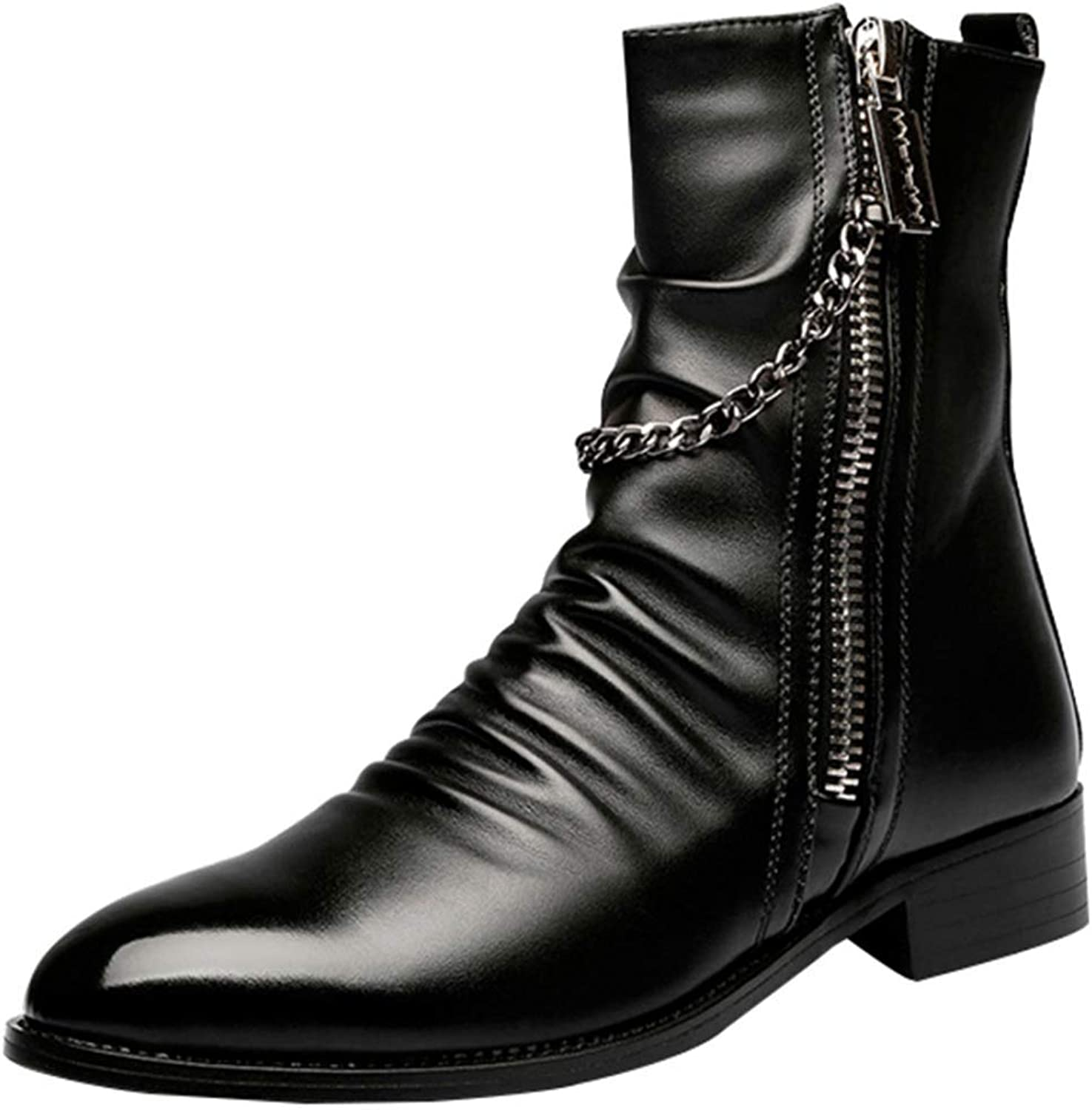Fuxitoggo Men's Martin Boots Spring And Autumn Winter Fashion Boots (color   2, Size   41EU)
