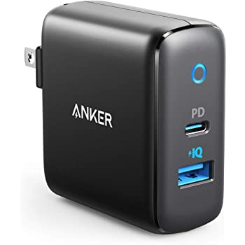 USB C Charger, Anker 30W 2 Port Fast Charger with 18W USB C Power Adapter, Foldable PowerPort PD 2 Charger for iPad Pro, iPhone 11/11 Pro / 11 Pro Max/XS/Max/XR/X, Pixel, Galaxy, and More