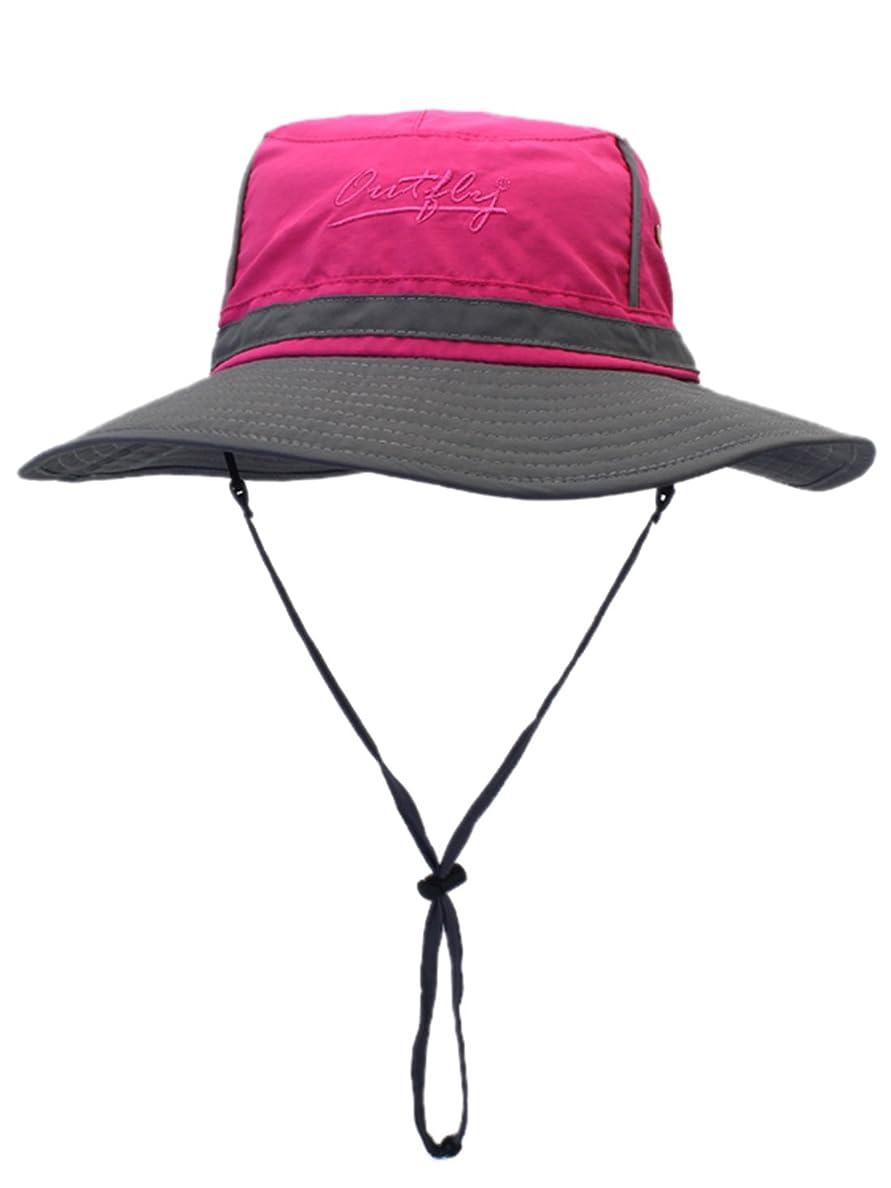 模索好意的常習的サファリハット 日よけ帽 つば広 帽子 折り畳み 男女兼用 通気性 ハット アウトドア 登山 釣り スポーツ サイズ調整可能