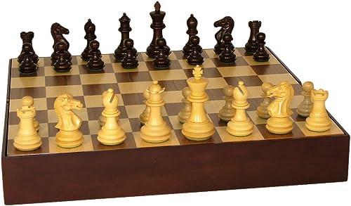 calidad de primera clase Walnut Walnut Walnut Stained Exclusive on Walnut Chest Board Chess Set  barato