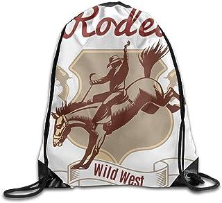 663ed4f0f7d MichelleSmithred Wild West Unisex Outdoor Rucksack Shoulder Bag Sport  Drawstring Backpack Bag Material PVC