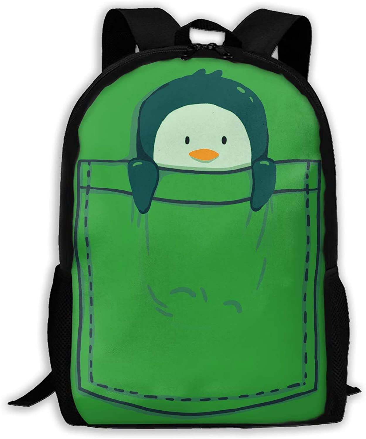 c58a34764ee5 Pocket Penguin Laptop Bags Shoulder Bag College Daypack for Unisex ...