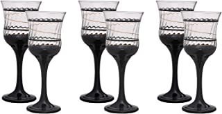 Agfa Drinkware Set Of 6 Pieces - Black Clear
