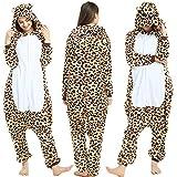 SSM Pijama de animal, disfraz de Halloween, cosplay, pijama, unisex, para adultos, carnaval, mono, leopardo, talla M
