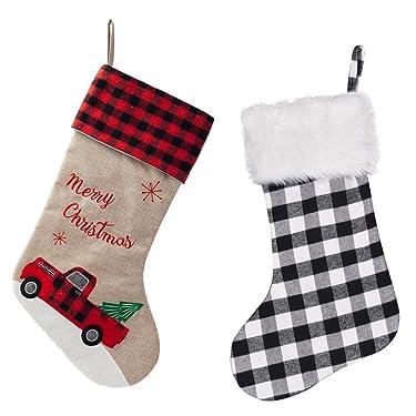 S-DEAL - Calcetín de Navidad de 20.9in con doble capa para decoración de mantel con pompón de regalo para fiestas en familia, vacaciones de Navidad