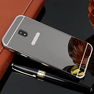 Galaxy 2017 J5/J5 Pro Case, Shiny Awesome Make-up Mirror Plated Aluminum Metal Frame Bumper Slim Cover, TAITOU Cool 2 in 1...