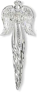 K&K Interiors Glass Icicle Angels Holding a Star Christmas Ornament, 6 Inch