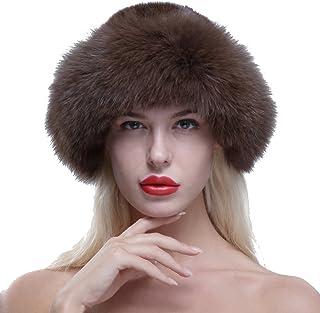 02796dc781485 URSFUR Chapeau Melon En Fourrure De Renard Femme Bonnet Fourrure Hiver