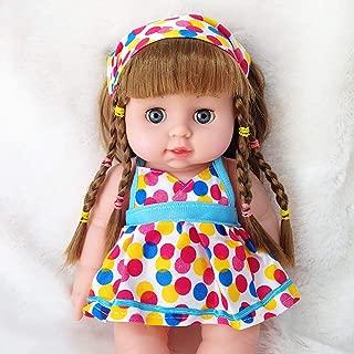 Miklan Cute Girl Dolls African American Play Dolls Lifelike 12 inch Baby Play Dolls