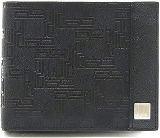 [ダンヒル] dunhill D-EIGHT ディーエイト D8 2つ折 財布 レザー PVC ブラック 黒 OG3070A [中古]