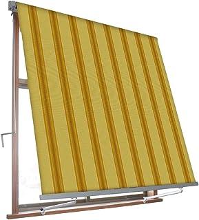 larghezza 3m e sporgenza 2m VERDELOOK Tenda da Sole Itaca avvolgibile ad inclinazione fissa colore beige