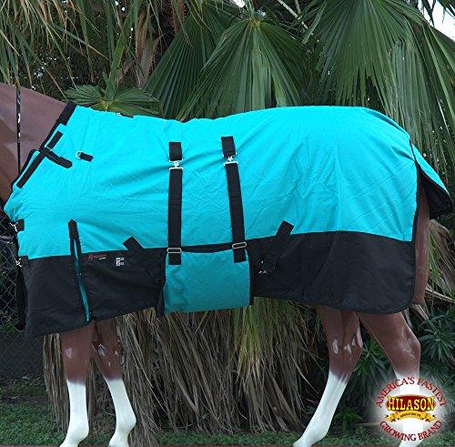 HILASON 78' 1200D Winter Waterproof Poly Horse Blanket Bellywrap