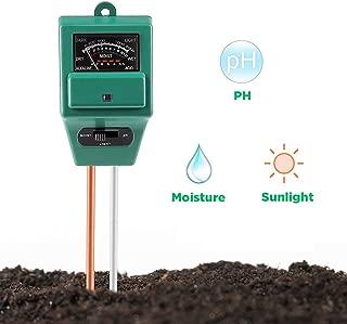 Ourine 3in1土壌測定器 土壌酸度 PH メーター 水分計 照度計 多機能 園芸 農業 栽培 家庭菜園用