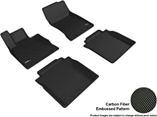 3D MAXpider L1GS00101509 Complete Set Custom Fit All-Weather Kagu Series Floor Mats in Black for Select Genesis G90 Models