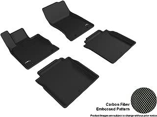 3D MAXpider L1GS00101509 Complete Set Custom Fit All-Weather Kagu Series Floor Mats in Black Select Genesis G90 Models