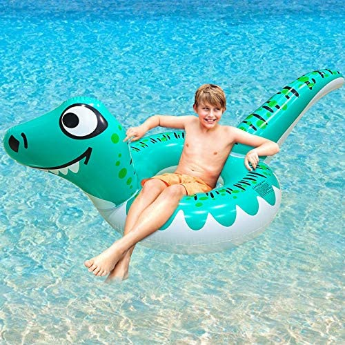 AMENON Giant Dinosaur Inflatable Pool Float Swim Tube Ring Pool Toys for Kids Adults Raft Lounge product image