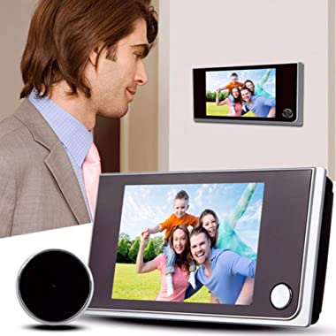 3.5 inch Digital Doorbell LCD 120 Degree Eye Electronic Peephole Doorbell Color IR Camera Door Viewer Powered by 4Pcsx AAA Ba